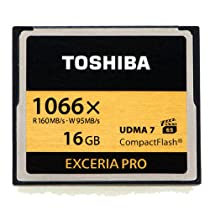 Toshiba Exceria Pro CompactFlash 16GB High-speed Memory Card (THNCF016GSGI)