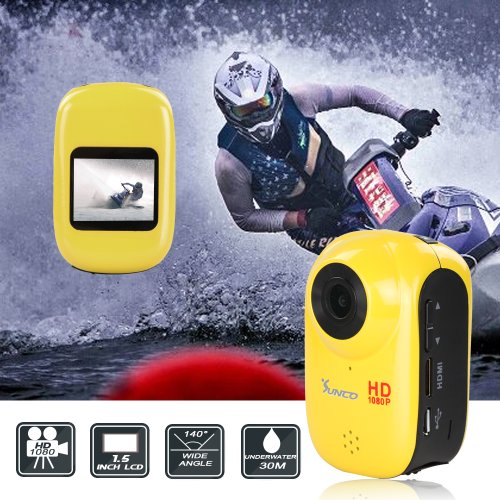 Sunco® DREAM Waterproof 1.5-inch High Definition Screen 12MP HD 1080P Sports Action Video Camcorder With Car Mode