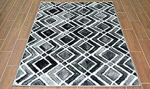 modern teppich design grau schwarz und wei top preis guenstig teppich platin 3146 28n67 120x170. Black Bedroom Furniture Sets. Home Design Ideas