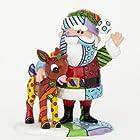 Enesco Rudolph Britto Gift Santa and Rudolph Figurine, 5.12-Inch