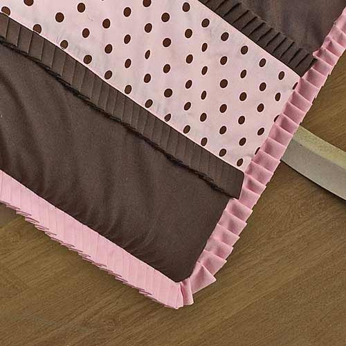 Imagen de Baby Doll Bedding Set Cocoa Dots Cuna, Brown / Pink