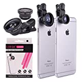 YOPO® 180° Universal 3 in 1 Clip on Fish Eye Lens + 2 in 1 Macro Lens + Super Wide Angle 0.4X Lens Camera Lens Kit For Iphone 6, Iphone 6 plus, Iphone 5, Iphone 5s, Samsung Galaxy S3, Samsung Galaxy S4, Samsung Galaxy S5, Samsung Note 4,3,2, iPad 2, 3, 4, Air and other Smartphones Mobile Phone Notebook Pc/IPad (Black)
