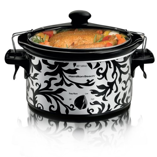 Hamilton Beach 33246T Designer Stay or Go Slow Cooker 4 Quart w/Clips & Latches (Designer Slow Cooker compare prices)
