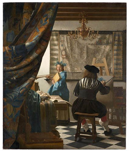 Artifact Puzzles - Jan Vermeer: Art of Painting Wooden Jigsaw Puzzle
