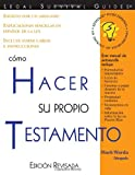 Cómo Hacer Su Propio Testamento: (How to Make Your Own Will, Spanish Edition)