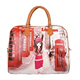 #1: Devil Women Elegant Handheld Digital Print Casual Hobo Shopping Carry Hand Bag