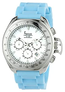 Freelook Women's HA6303-6A Aquamarina III Blue Band and White Dial Watch