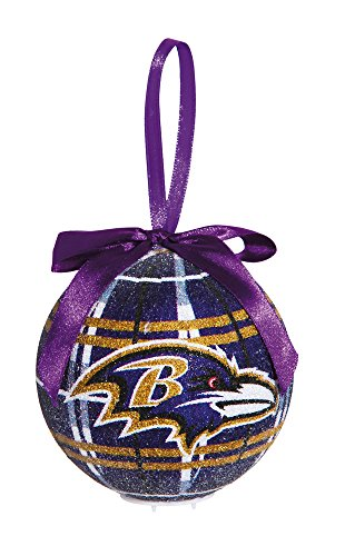 100Mm Led Ball Ornament, Baltimore Ravens