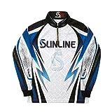 サンライン(SUNLINE) STW-5555CW PRODRY フルジップアップシャツ(長袖)  ホワイト 4L
