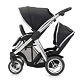BabyStyle Oyster MAX Inline Double Baby Pushchair (inc 2nd Seat) Black