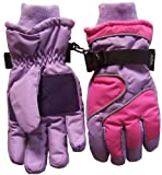 N'ice Caps Girls Thinsulate and Waterproof Colorblocked Reflector Glove