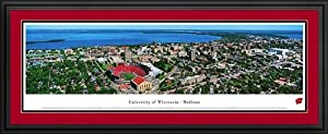Wisconsin Badgers - Madison Campus and Camp Randall - Framed Poster Print by Laminated Visuals