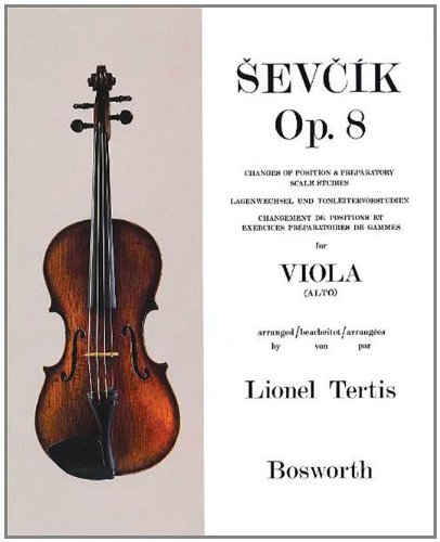 SEVCIK POSITION CHANGES PREP SCALE STUDIES FOR VIOLA