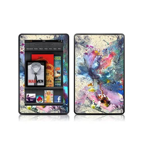 Cosmic Flower Design Protective Decal Skin Sticker (Matte Satin Coating)   Matte Satin Coating for  Kindle Fire (7 inch Color Multi Touch Display)
