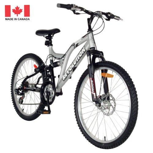 Revolution Rebound Dual Suspension Mountain Bike (Silver, 24-Inch)