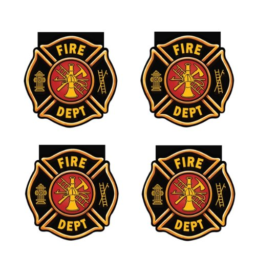 Creative Converting BB095556 Fire Watch Badge Shaped Notepad Favors -4 Pack