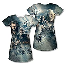 The Hobbit: Battle Of The Five Armies Epic Poster Junior Fit All Over Print Front / Back T-Shirt
