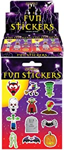 Henbrandt 12 Packs Halloween Spooky Stickers Trick Treat Party Bag Fillers