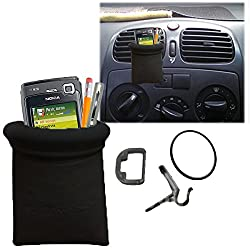 Callmate Black Car Pouch Mobile Phone Holder Mount for Car AC vents