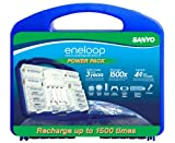 Original eneloop 2nd Generation Power Pack in Blue Case - 8 AA, 2AAA, 2C and 2D adapters, 1 Charger