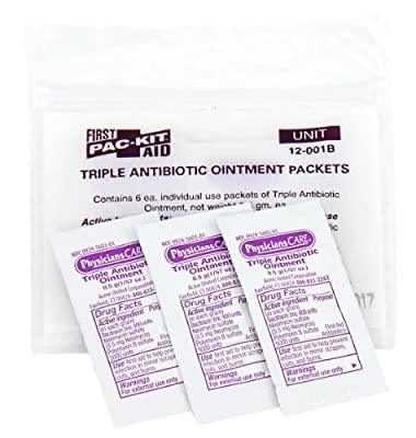 Pac-Kit by First Aid Only 12-001 Triple Antibiotic Ointment Packet (Box of 12) from Acme United