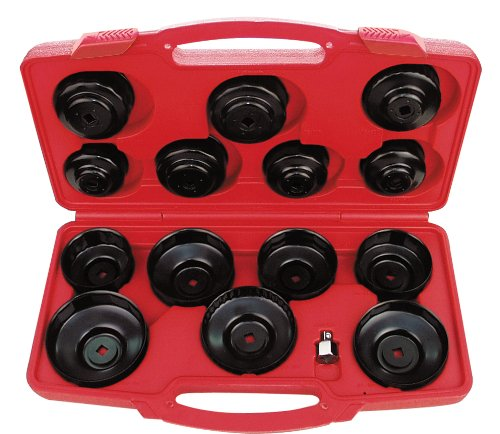 AMPRO T75871  Cup Type Oil Filter Wrench Set, 14-Piece (Oil Filter Kit compare prices)