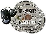 HAMBURGER'S Home Brewed Moonshine Coasters - Set of 4