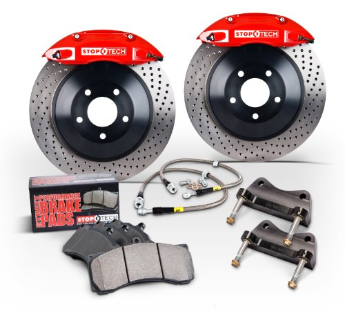 Stoptech Rear 13 Inch BBK With Red ST-40 Calipers,