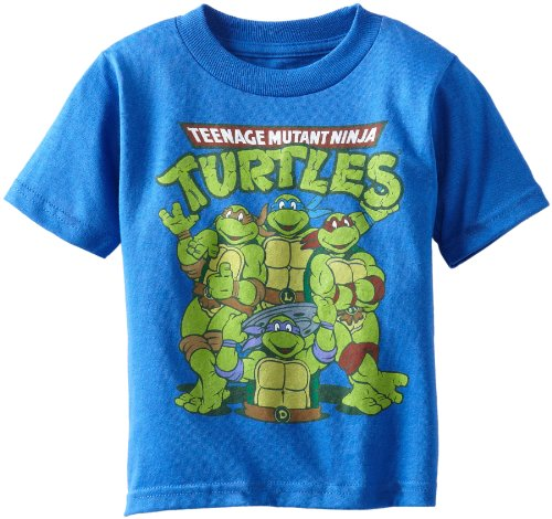 Teenage Mutant Ninja Turtles Little Boys' Group Tee Toddler, Royal, 4T - 1