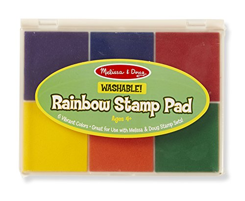 Melissa & Doug Rainbow Stamp Pad - 6 Washable Inks (Non Toxic Stamp Pad compare prices)