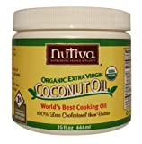 Nutiva Organic Extra Virgin Coconut Oil, 15-Ounce Tubs (Pack of 2) Reviews