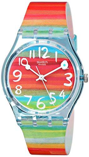 Swatch Women's GS124 Quartz Rainbow Dial Plastic Watch 0