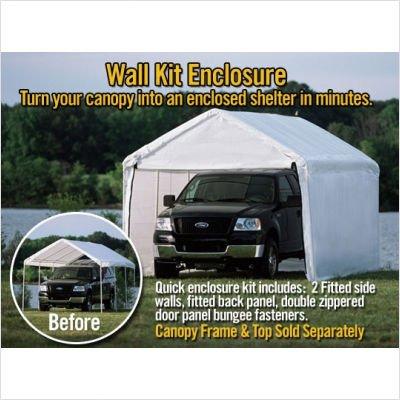 """ShelterLogic 10x20 Canopy Enclosure Kit with Windows for 1-3/8"""" Frame (White)"""