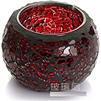 1pc Chinese Mosaic Glass Candle Holder Tealight Votive Holder Wedding / Home Décor (E)