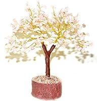 Reiki Crystal Products Pink Rose Quartz Crystal Tree 300 Beads Healing Gemstone