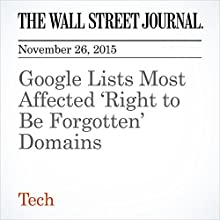 Google Lists Most Affected 'Right to Be Forgotten' Domains (       UNABRIDGED) by Brian R. Fitzgerald Narrated by Alexander Quincy