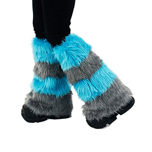 Pawstar Furry Cheshire Cat Striped Leg Warmers Fluffies – Alternate
