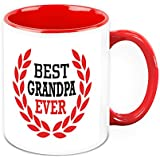 Gift For Grandpa - HomeSoGood Best Grandfather Ever White Ceramic Coffee Mug - 325 Ml