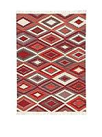 Kilim Carpets by Jalal Alfombra Kilim Zagros (Rojo/Naranja/Multicolor)