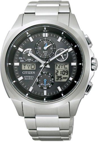 CITIZEN (シチズン) 腕時計 ATTESA アテッサ Eco-Drive エコ・ドライブ 電波時計 ジェットセッターU680 ATV53-3022 メンズ