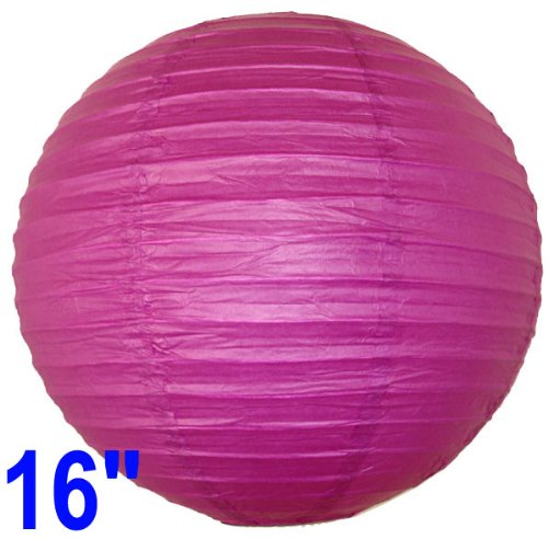 Fuchsia Purple Chinese/Japanese Paper Lantern/Lamp 16