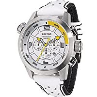 Sector Men's Watch R3271602145 In Collection Oversize with Chrono, White Dial and White Strap