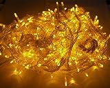 GOODGOODSLEDイルミネーションライトクリスマス飾りLED電飾500球30m複数連結可防水黄色LD55イエロー