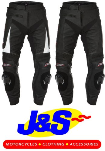 RST SLICE 1023 LADIES LEATHER MOTORCYCLE JEANS WOMENS MOTORBIKE TROUSERS RACING RACE J&S (LADIES 16, BLACK)