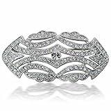 Bling Jewelry Art Deco Vintage CZ Wedding Brooch Pin