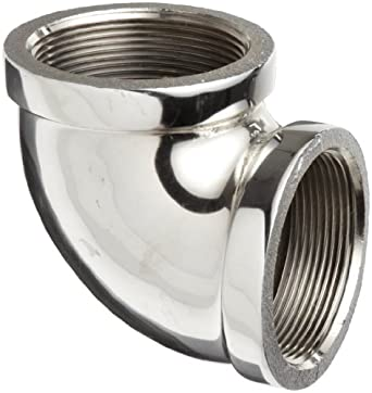 Chrome Plated Brass Pipe Fitting, 90 Degree Elbow, NPT Female
