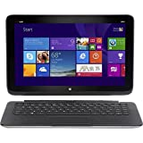 HP 13-m110dx 2-in-1 Convertable Touchscreen Laptop and Tablet Computer / 13.3-inch Display / Intel® CoreTM i3-4010Y 4th Generation Processor / 4GB DDR3L SDRAM / 128GB Solid State SSD Drive / Webcam / USB 3.0 / HDMI / Bluetooth / 3-cell Battery / Windows 8 / Modern Silver