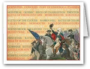 revolutionary war newspaper template - famous revolutionary war battles note card 10