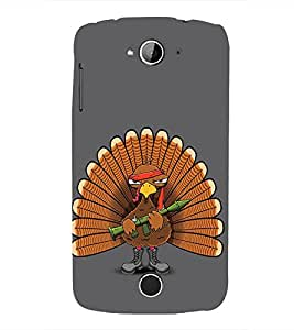 99Sublimation Animated Peacock with Shoe and Missile 3D Hard Polycarbonate Designer Back Case Cover for Acer Liquid Z530 :: Acer Liquid Z530S