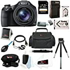 Sony DSC-HX400V/B DSCHX400V HX400V 20.4MP High Zoom Point and Shoot Camera + Sony 64GB SDHC Memory Card + Focus Camera Carry Case +Focus Two Replacement NP-BX1 Batteries and Charger for Sony + Accessory Kit